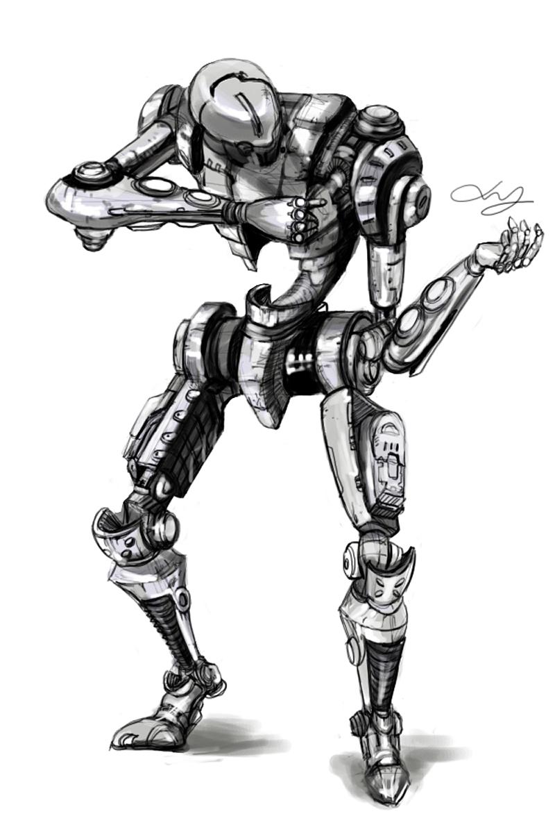 记得这组机器人是在去年暑假在家时画的,晚