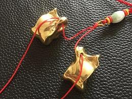 铸铜羊拐,新疆内蒙地方特色工艺品