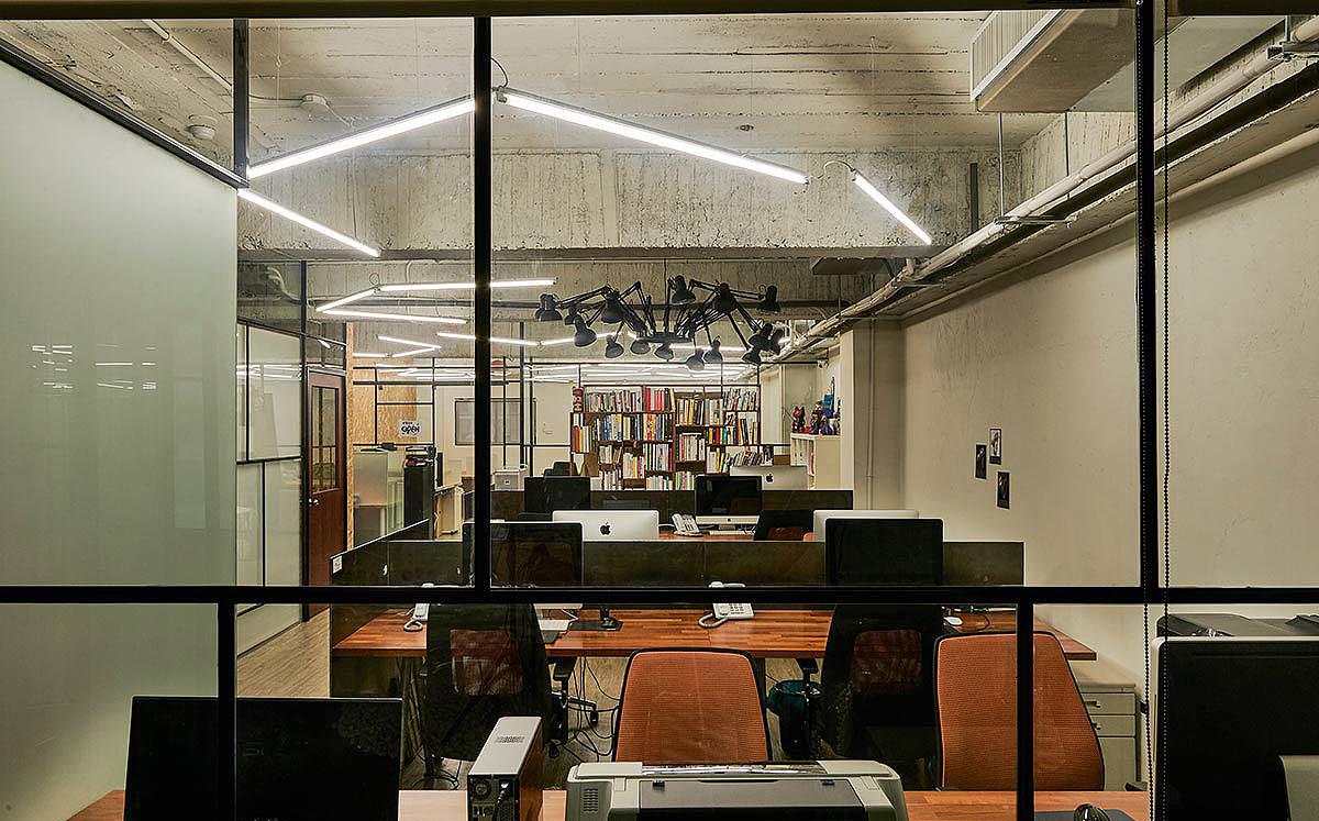 郑州个性工业风办公室装修设计案例-个人工作室设计图
