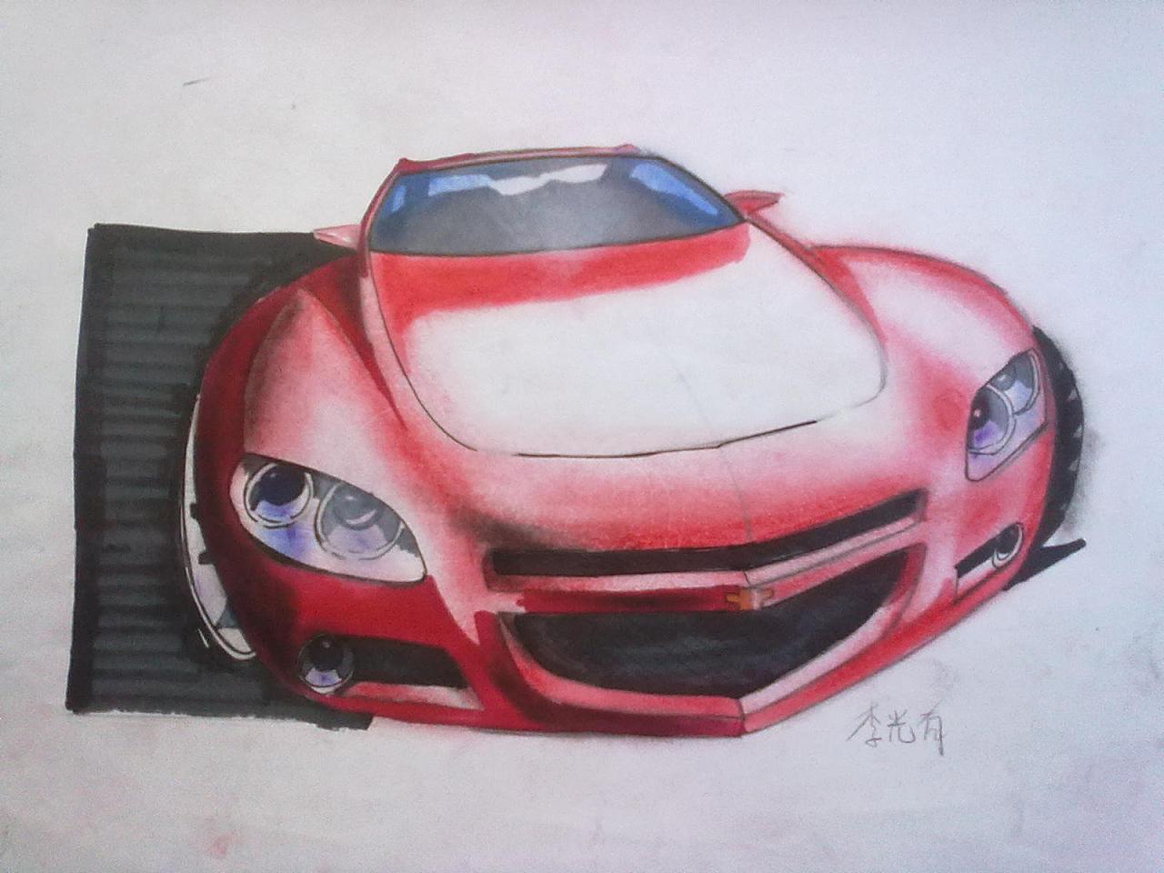 手绘汽车|工业/产品|交通工具|ganule - 原创作品
