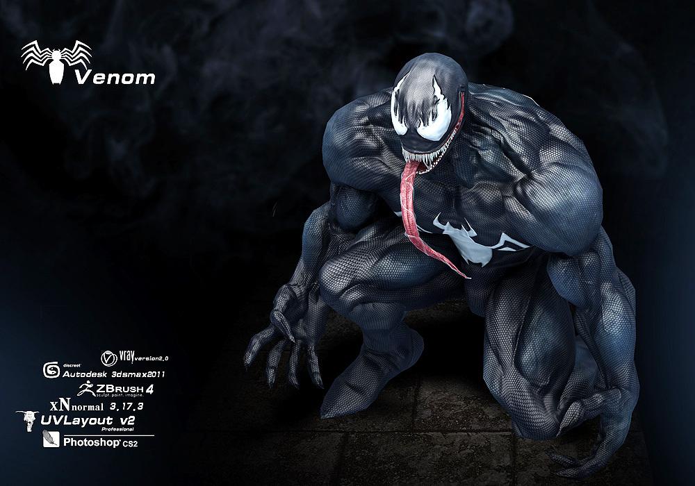 美国漫画英雄-毒液-venom