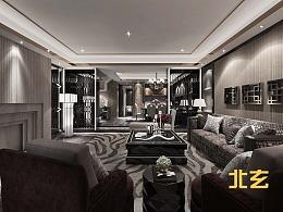 现代客厅效果表现