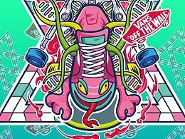 #vans#艺术家TEE图案征集 ——迷之DNA