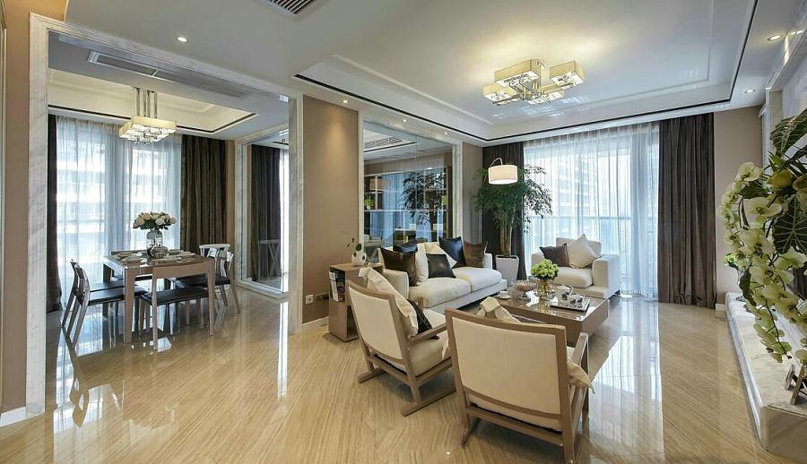 淄博绿城装修,150平现代轻奢风房子图v房子 室100室内平设计图实景图片