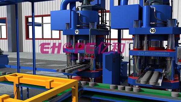 液压机工作原理机械三维动画制作 工业用品/机械