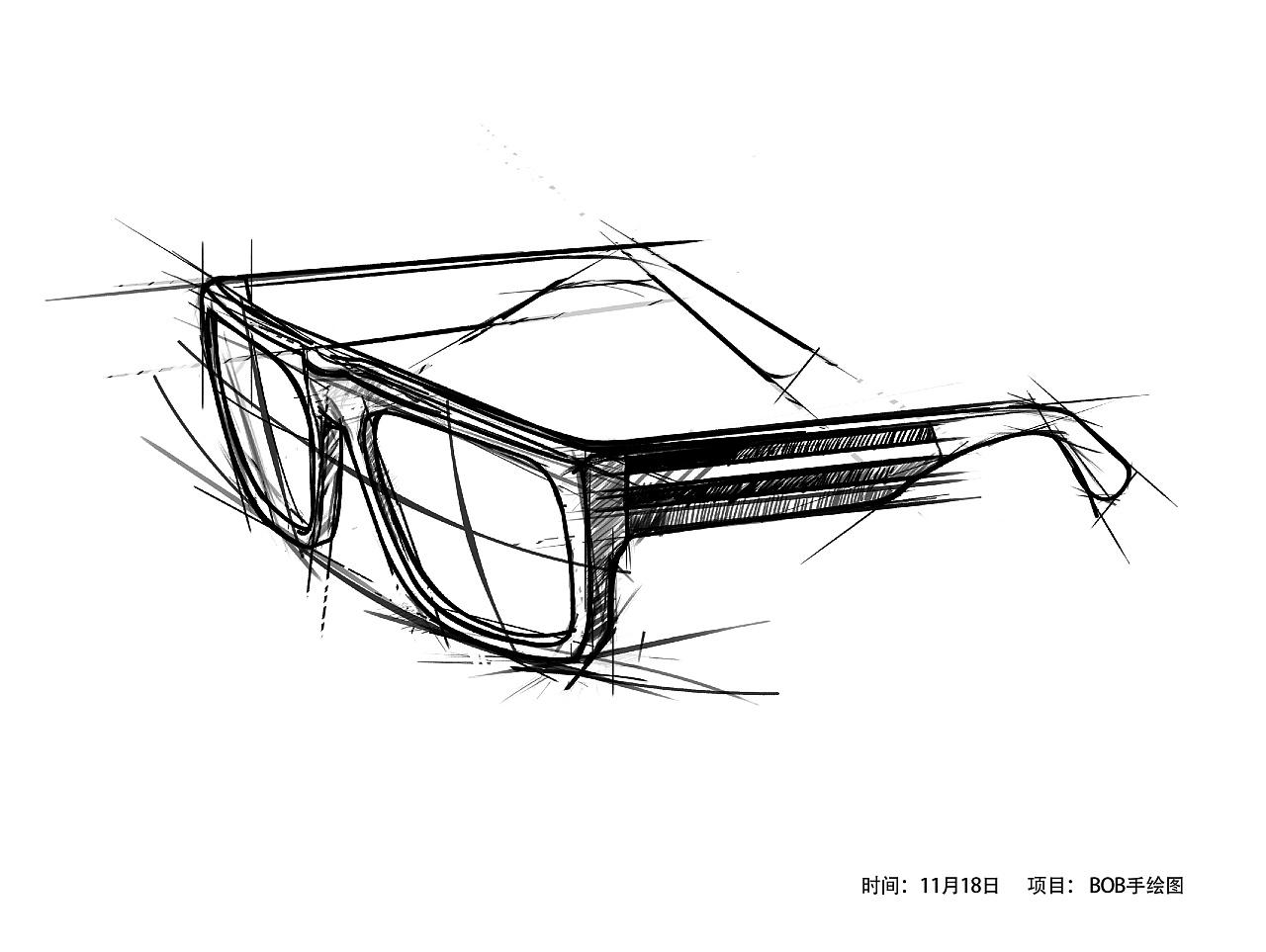 复杂产品手绘线稿