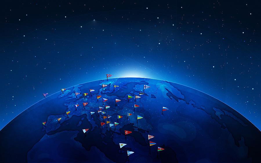 中国地图星空-UI背景