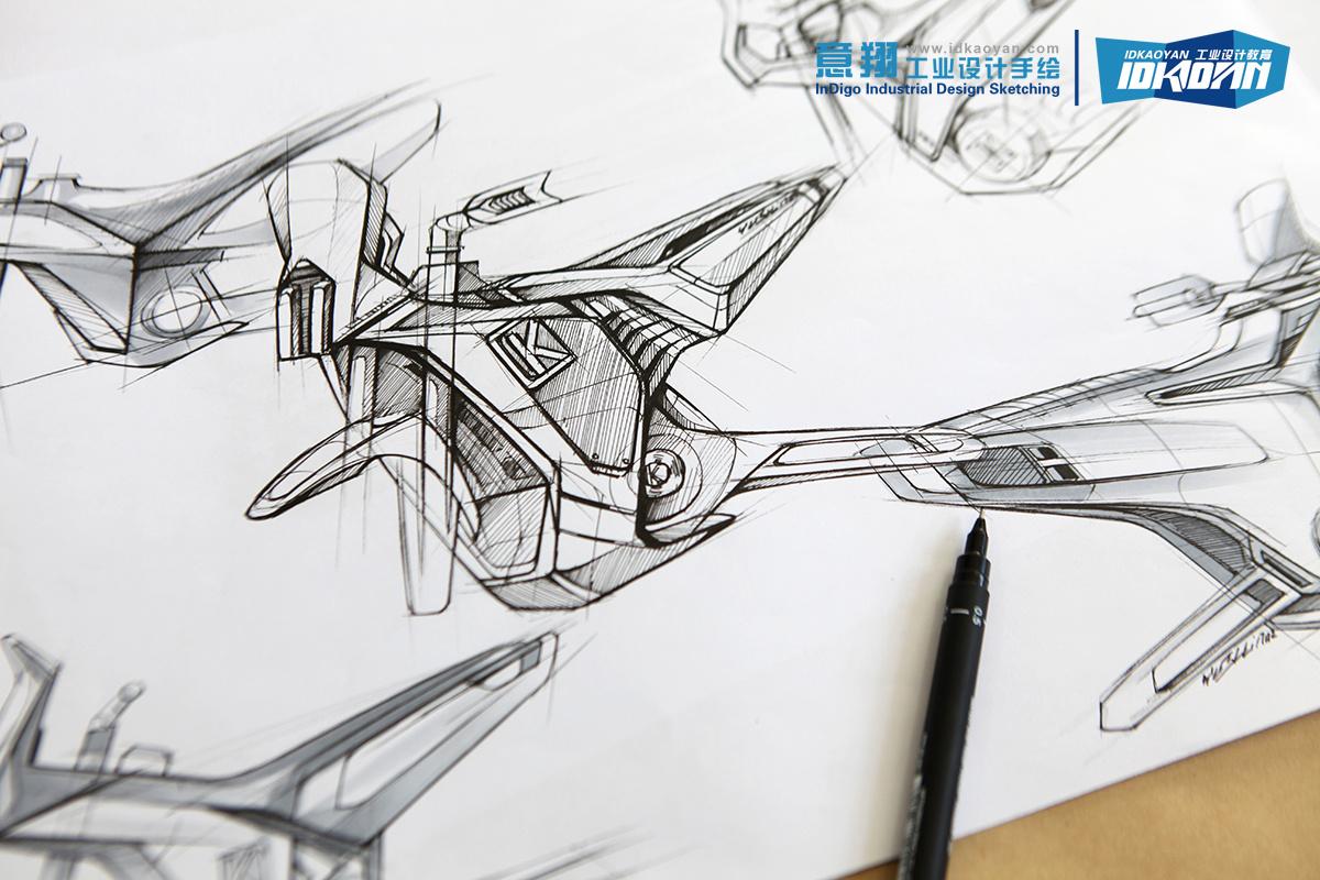 工业设计手绘线稿表达(适合考研,创意草图和ideation)