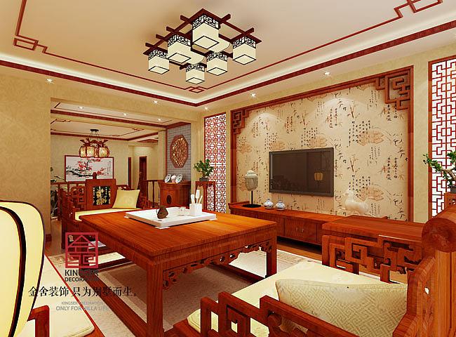 【四季阳光装修】-165㎡三室两厅-中式图片