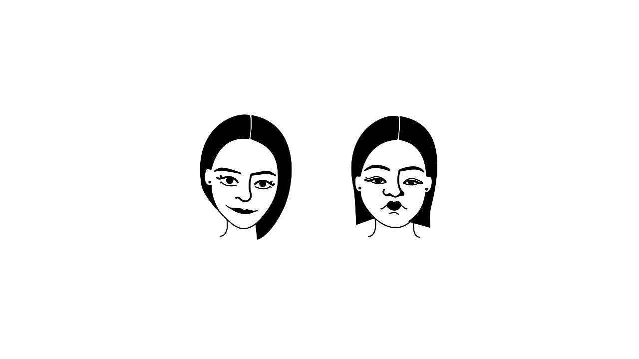 微信表情包|黑白人物头像