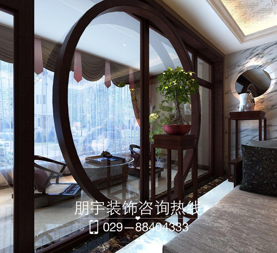 西安新中式风格装修设计|室内设计|空间/建筑|朋宇