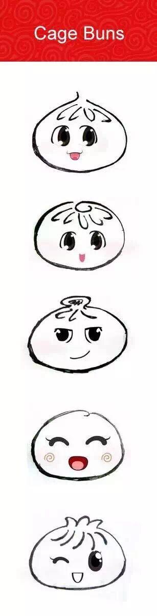 包子 食物 漫画人物 手绘设计 吉祥物