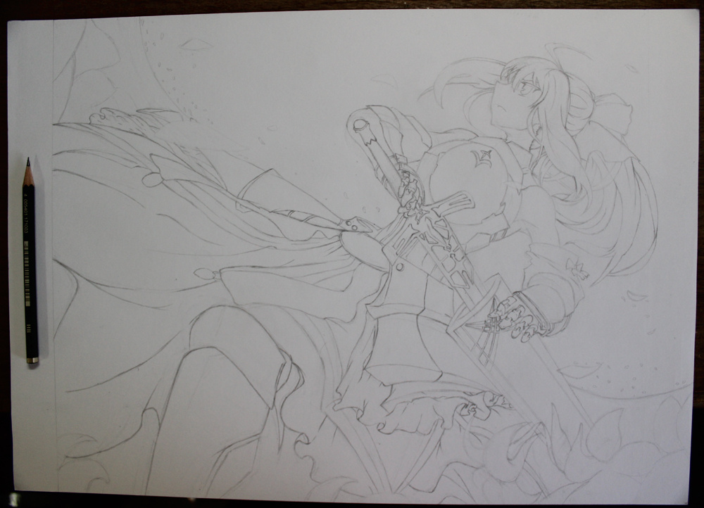saber lily手绘