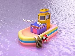 噪点-小船