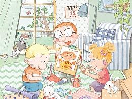 《中国儿童画报》5月封面➕内页