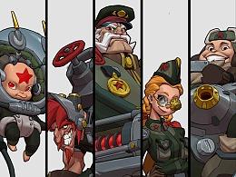 Soviet squad 角色练习