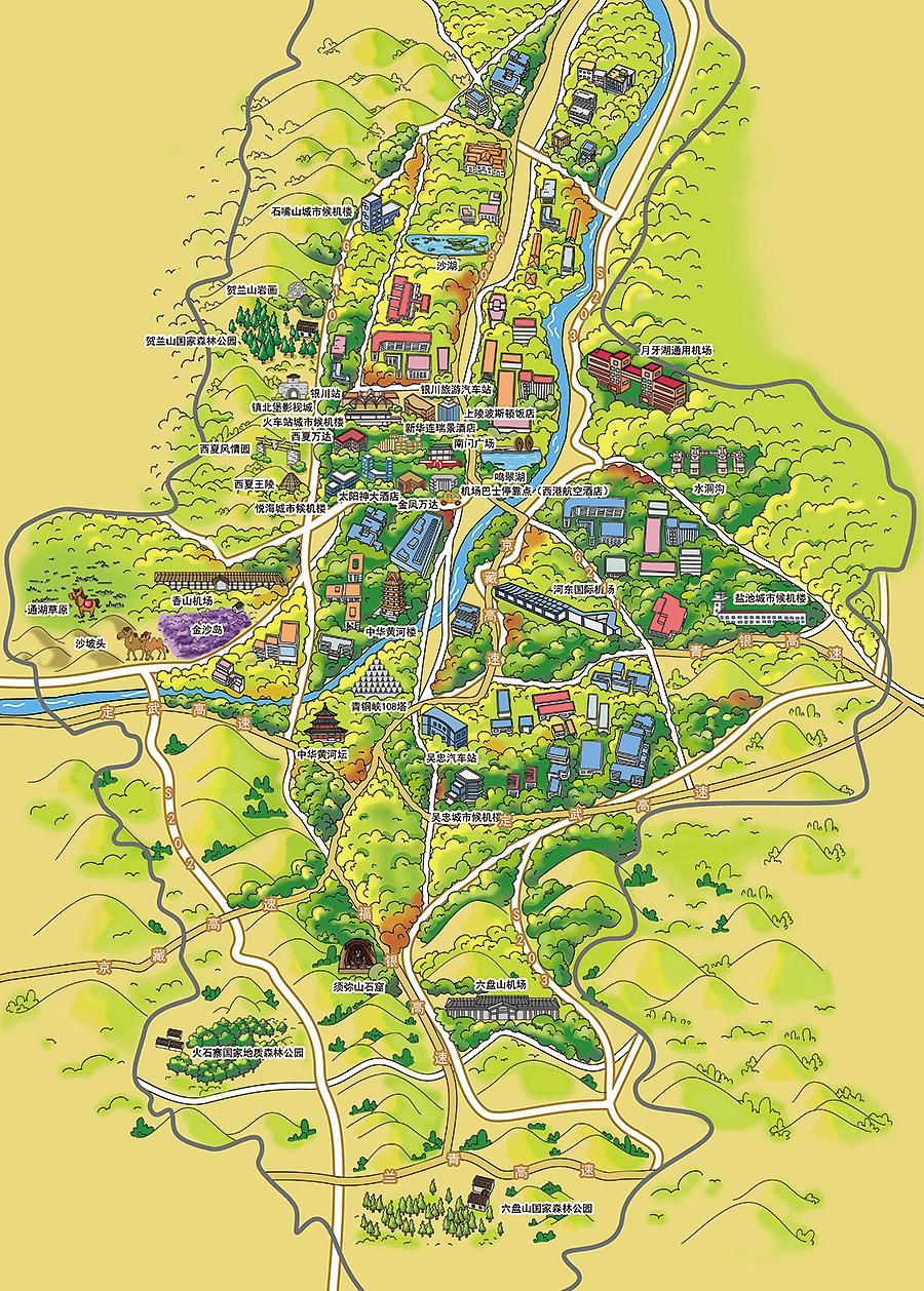三亚地图旅游景点图