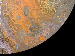 火星-抽象艺术流体画装饰画棕色