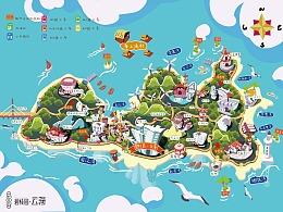 汕头碧桂园·云海 南澳岛 地图插画