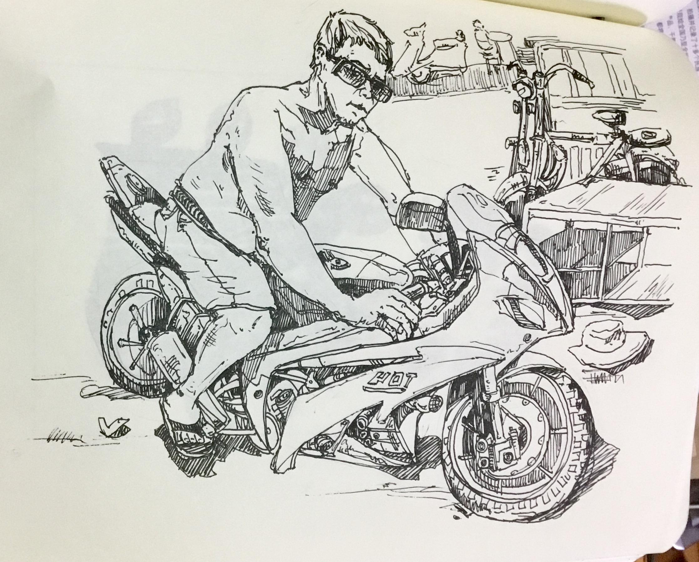 我的手绘小本子|纯艺术|速写|潜望镜工作室 - 原创