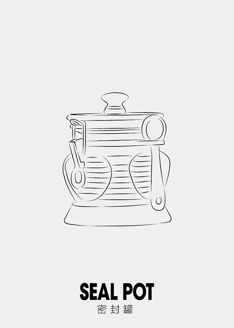 咖啡手绘创意画