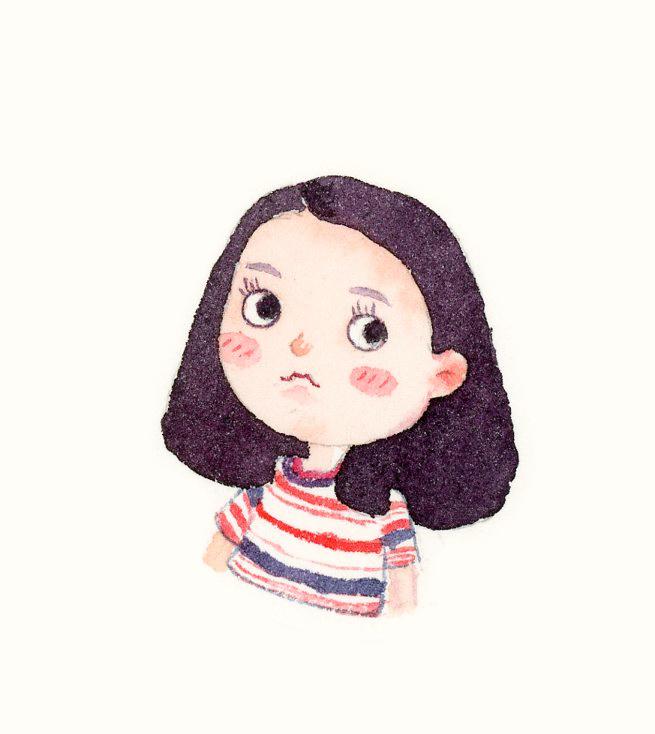 【小熊猫】水彩手绘人物水彩教程人物卡通头像手绘水彩