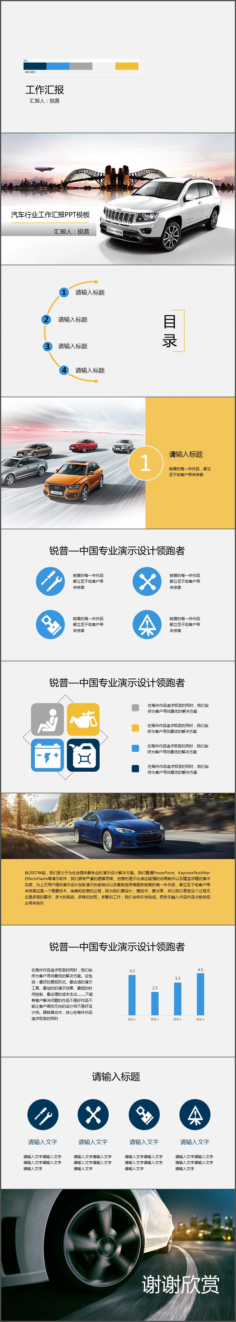 汽车行业ppt模板|文案/策划|其他|小小爿树
