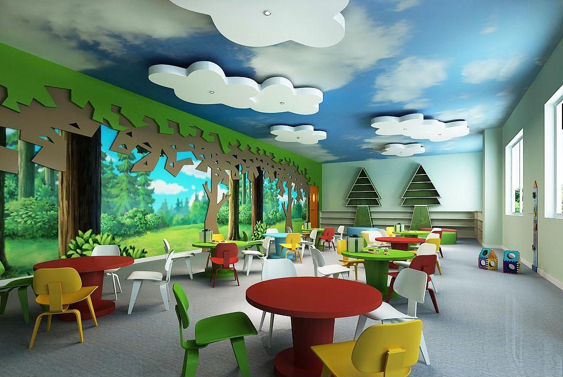 内江幼儿园装修设计 空间 室内设计 装修123-原创四川煊空间建筑设计有限公司图片