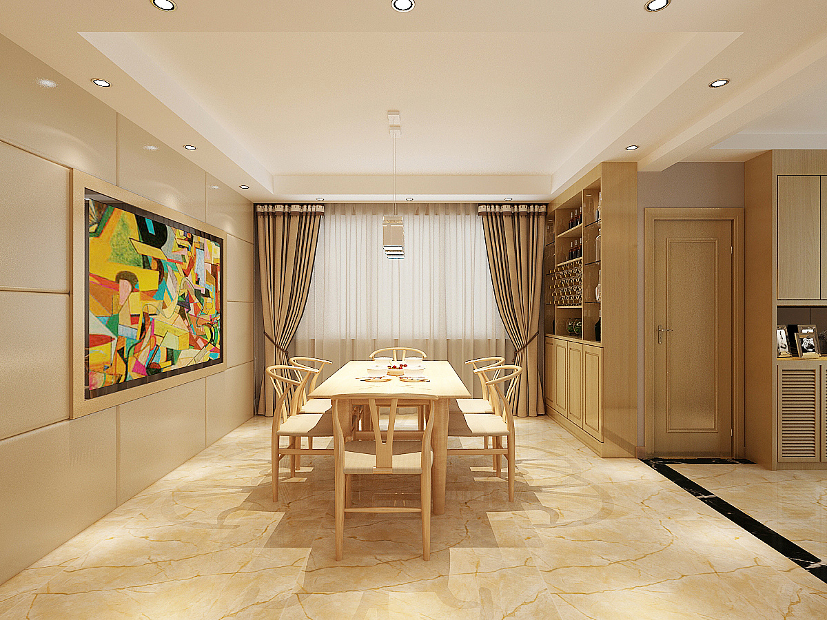 日式原木风格效果图|空间|室内设计|赵聪聪 - 原创图片