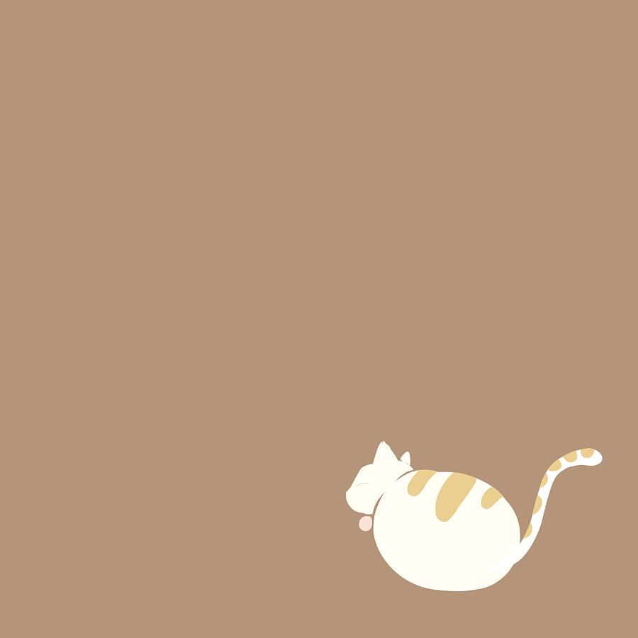 宝宝相册手绘猫咪封面&封底