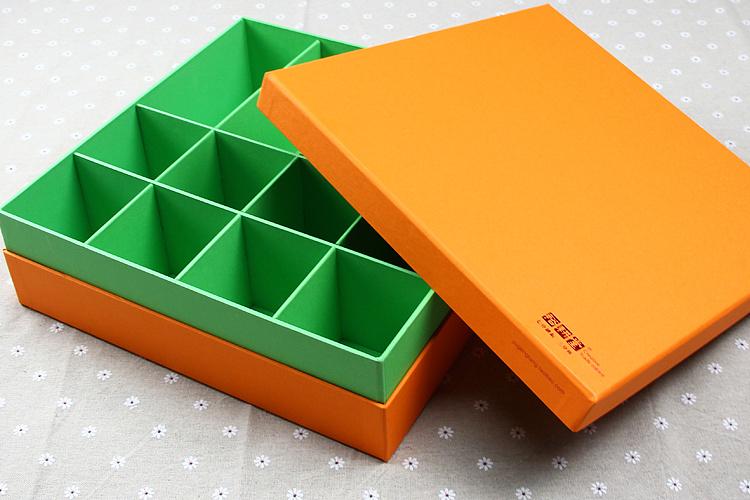 裕耕堂品牌 创意环保手工制作撞色系收纳盒