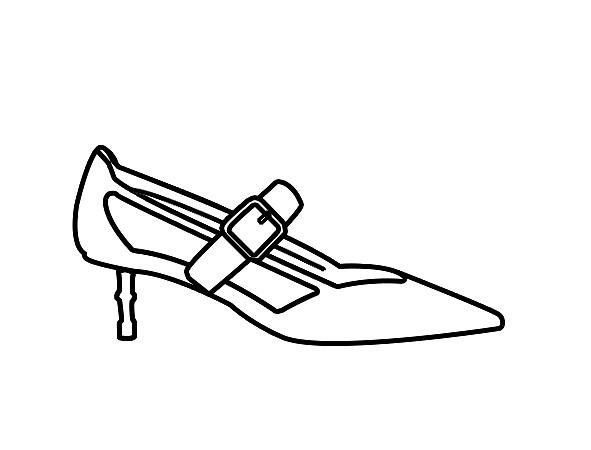 鞋子点线面黑白装饰画分享展示