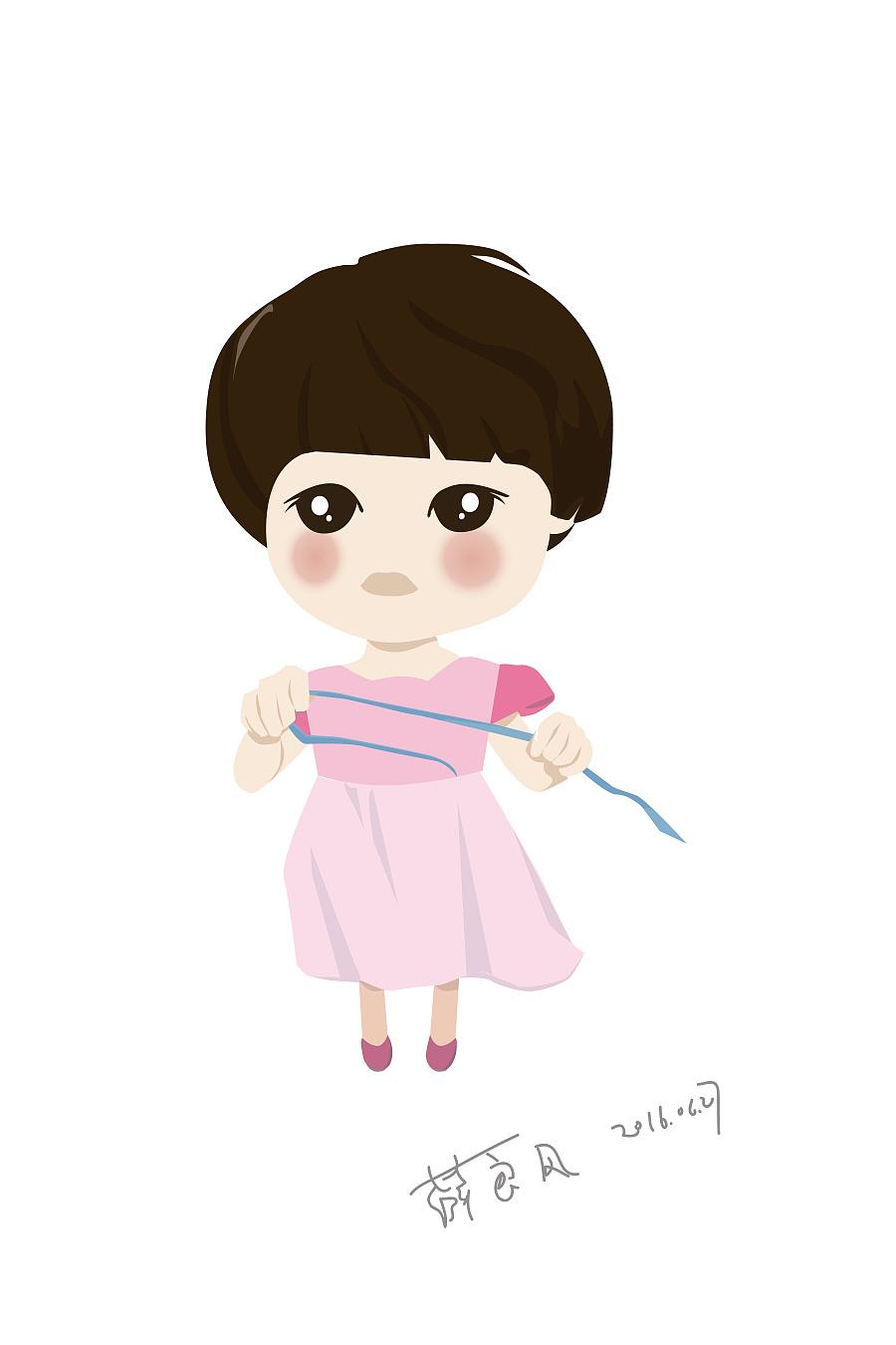 宝宝卡通形象手绘 人物插画 q版头像设计 人物形象设计