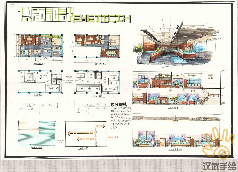 室内设计考研包含快题模版平面设计手绘哪些类容图片