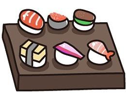 可爱的萌寿司