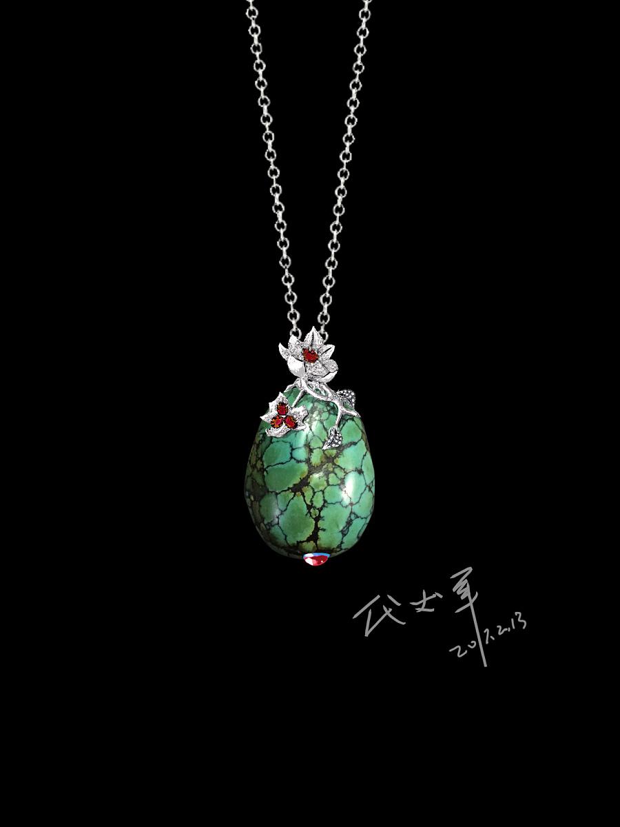 查看《代波军艺术珠宝定制----   一件绿松美丽一个女人作品欣赏》原图,原图尺寸:1240x1654
