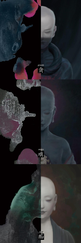 罗夏墨迹_陈梓郁 入行十年纪念画集【合十】 插画 概念设定 czy0802 - 原创 ...