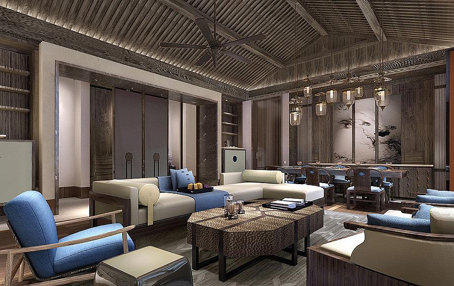 内江中式别墅设计-《内江设计》别墅门楼柱子方图片