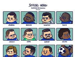 绿茵英雄-画画那些我喜爱的球星.持续更新中