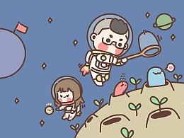 【指绘】吉叔与栗子