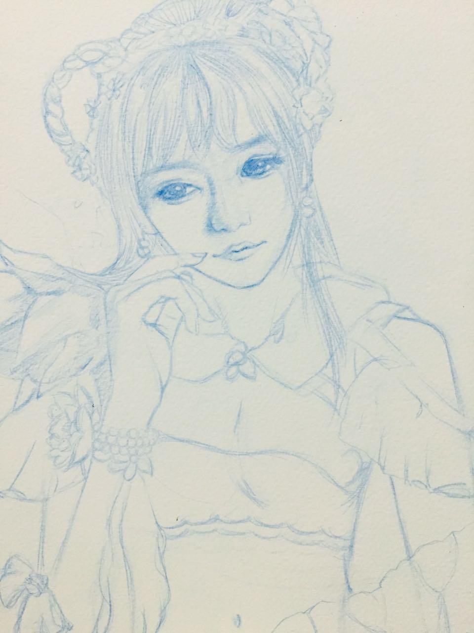 手绘碧瑶图片铅笔画