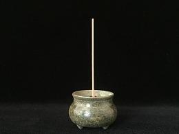 青铜三足手炉 纯铜仿古做旧小香炉