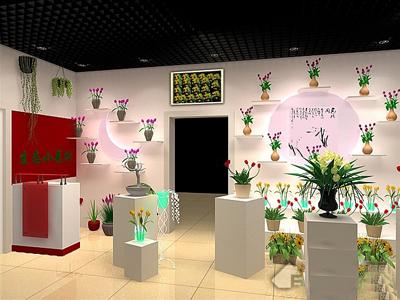 郑州鲜花店装修设计公司|室内设计|空间|大铭装饰