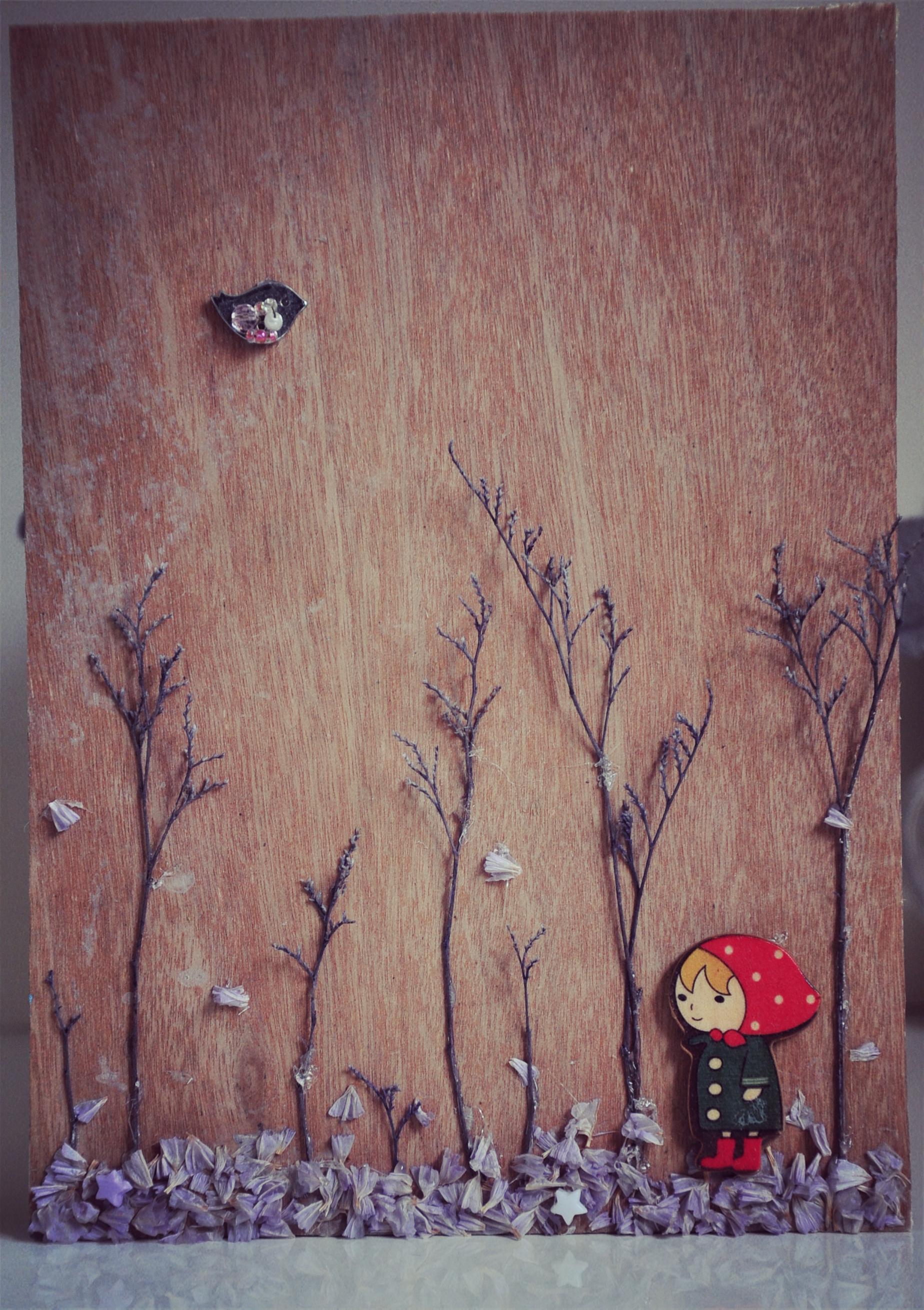 女孩与树 的拼贴画