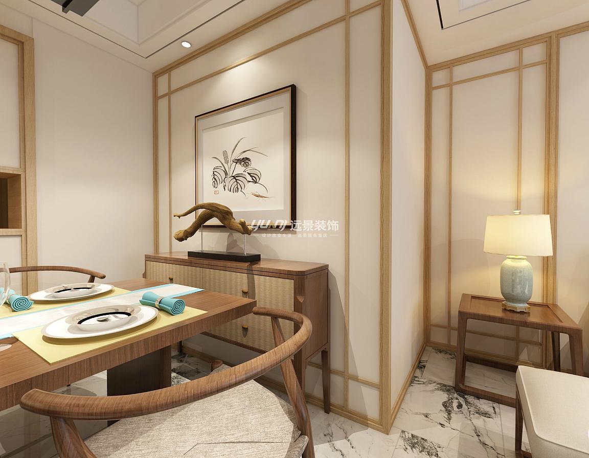渝北区公园大道洋房装修案例 新中式风格设计