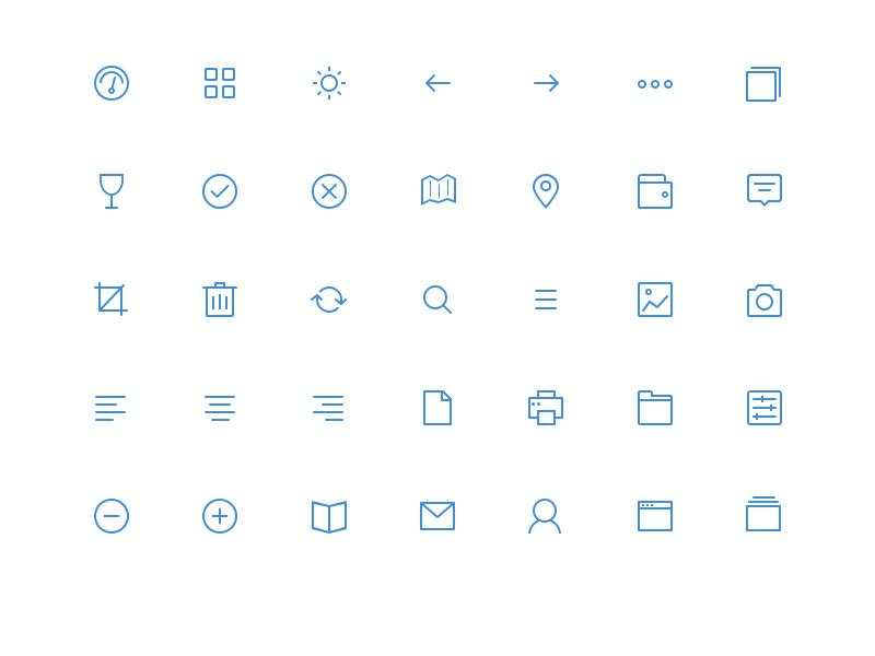 矢量线性图标icon|图标|ui|littleberry