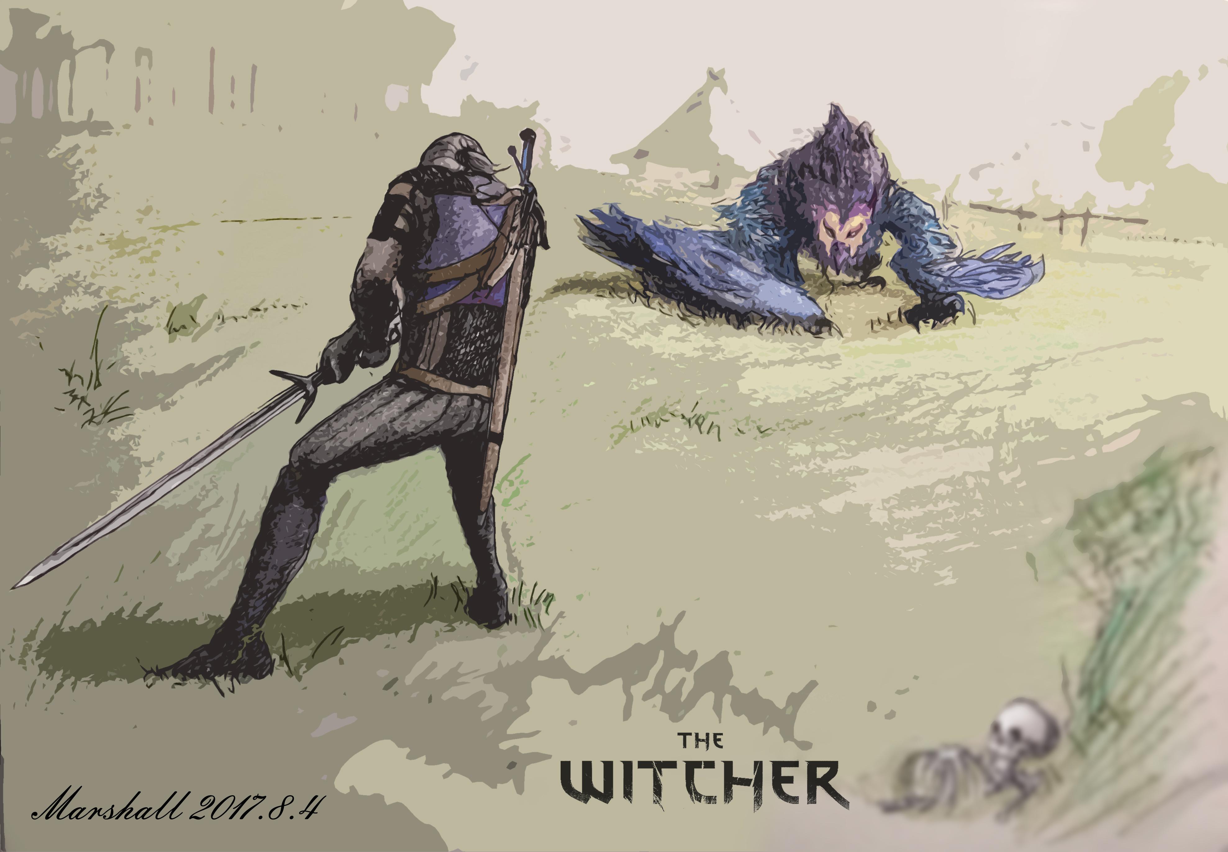 巫师3场景手绘