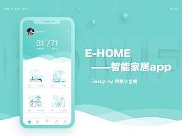 E-HOME智能家居界面设计合集