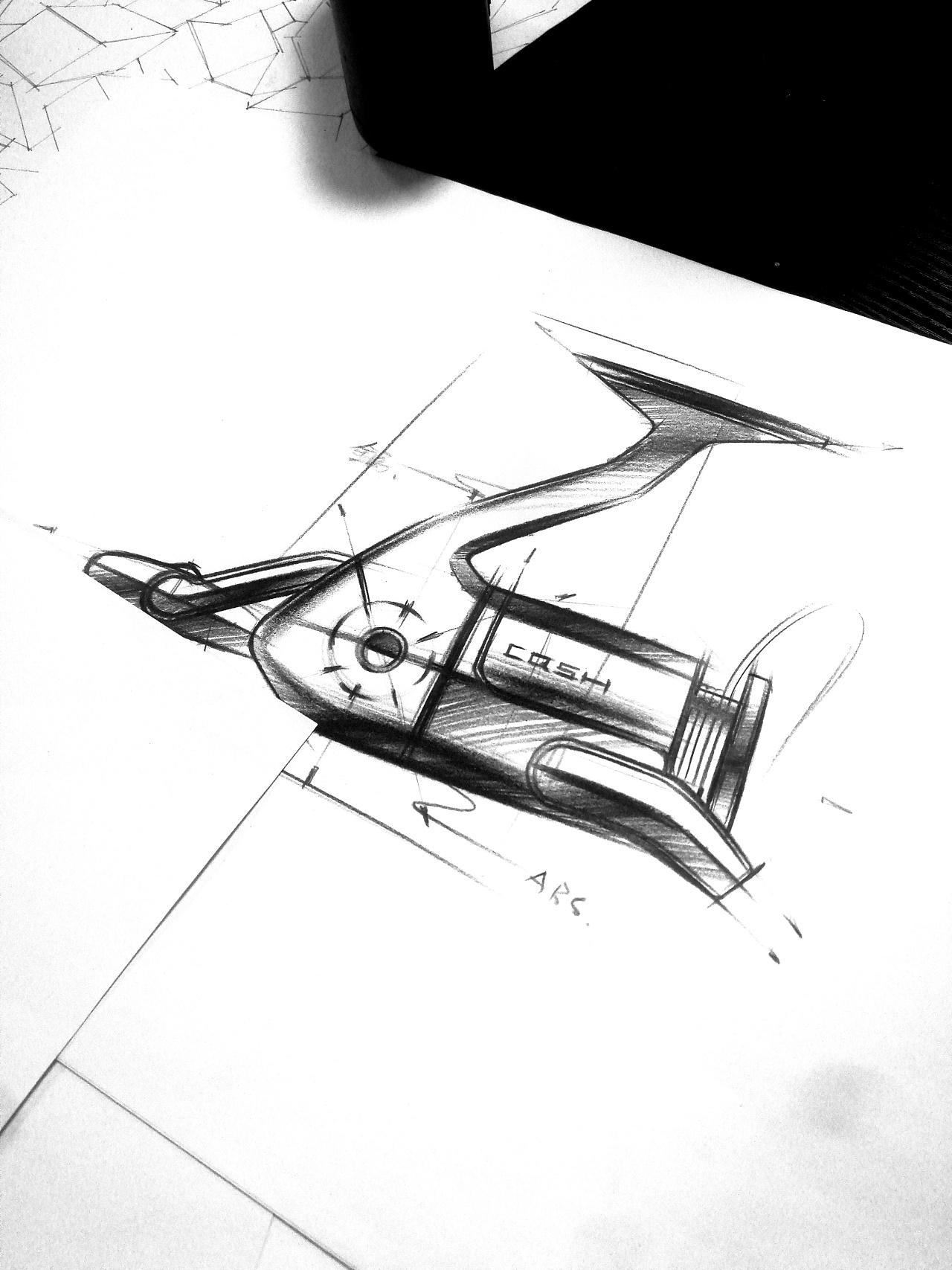 工业产品手绘_产品手绘图|工业/产品|交通工具|长青手绘 - 原创作品 - 站酷 (ZCOOL)