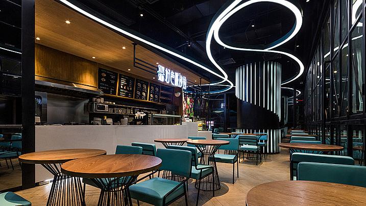 轻餐店 · 餐饮空间设计·好色派沙拉深圳中心城店